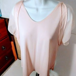 NWOT-Simply-Vera-Vera-Wang-Women-Soft-Pink-Blouse